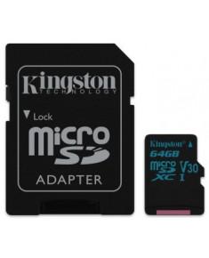64GB MICROSDXC CANVAS GO! CLASS 10 UHS-I U3 + SD ADAPTER