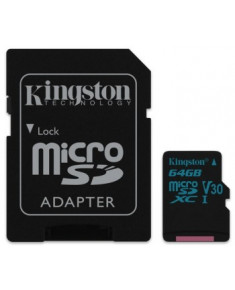 64GB MICROSDXC CANVAS GO! CLASS 10 UHS-I U3  + SD ADAPTER