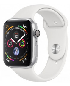 APPLE WATCH SER.4 44MM SILVER, BAND WHITE