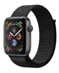 APPLE WATCH SER.4 44MM GRAY, LOOP BLACK