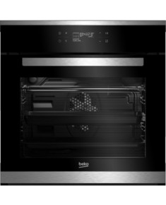BEKO Oven BIR25500XMS 60 cm, A+, Black color glass/inox details