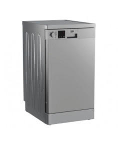 BEKO Free standing Dishwasher DVS05024S, Energy class E (old A++), 45 cm, 5 programs, Silver