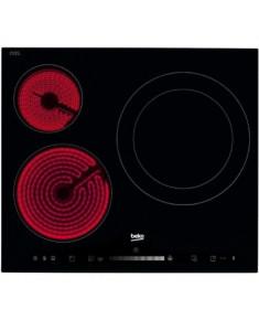 BEKO Hob HIC63501T, 60 cm, Booster function, Vitroceramic, Black color