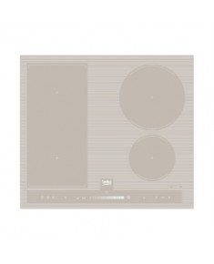 BEKO Hob HII64500FHTG 60 cm, INDUCTION Electric, Sand color, INDYFLEX zone