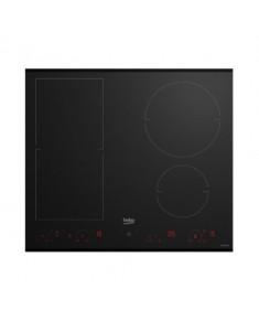 BEKO Hob HII64800FHT 60 cm, INDUCTION Electric, Black color, INDYFLEX zone