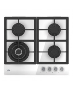 BEKO Hob HILW64222S 60 cm, Gaz, White color