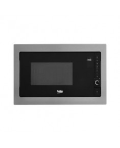 BEKO Microwave MGB25332BG, 900W, 25L, BUILT-IN, Auto-weight Defrost, Black/Inox color