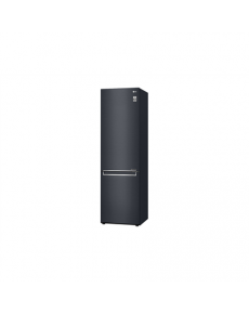 LG Refrigerator GBB72MCEFN Energy efficiency class D, Free standing, Combi, Height 203 cm, No Frost system, Fridge net capacity 277 L, Freezer net capacity 107 L, Display, 36 dB, Matt black steel