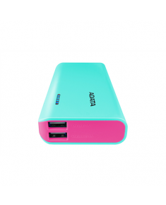 ADATA Power bank APT100-10000M-5V-CTBPK 10000 mAh, Tiffany Blue/ Pink