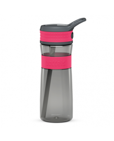 Boddels EEN Drinking bottle Bottle,  Raspberry red/Grey, Capacity 0.6 L, Bisphenol A (BPA) free