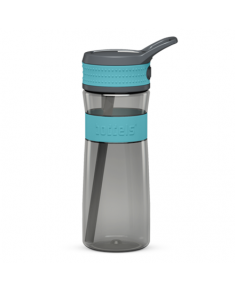 Boddels EEN Drinking bottle Bottle, Turquoise blue/Grey, Capacity 0.6 L, Bisphenol A (BPA) free