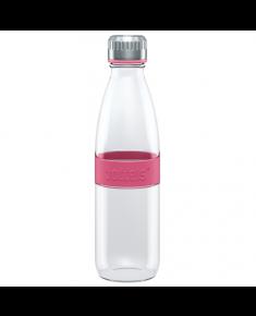 Boddels DREE Drinking bottle, glass Bottle, Raspberry red, Capacity 0.65 L, Bisphenol A (BPA) free