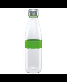 Boddels DREE Drinking bottle, glass Bottle,  Apple green, Capacity 0.65 L, Bisphenol A (BPA) free
