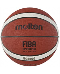 Basketball ball competition MOLTEN B7G3800 FIBA, synth. leather size 7