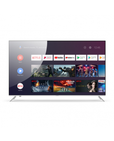 """Allview Qled65ePlay6100-U 65"""" (165cm) 4K UHD QLED Smart Android TV with Google Assistant Remote, Silver metallic frame"""